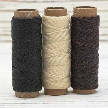 Waxed Bead Cord, 3 Mini Spools, .5mm, 20YRD Per Spool, Waxed Linen Cord