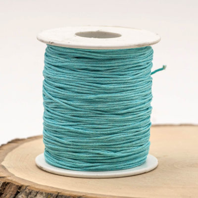 Waxed macrame Cord, Light Blue Cotton Cord, 75 meter Spool, Blue Macrame  Cord