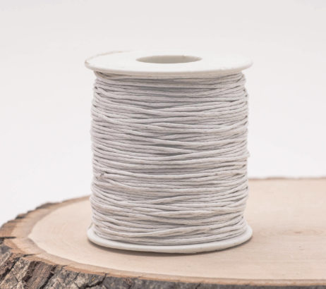 White Jewelry Cord, Waxed Cotton Cord  1mm, 75 meter Spool, Bead Cord