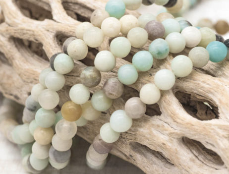 6mm  Amazonite Beads, Natural Gemstone  Beads, 60pc Strand,  .5mm Hole