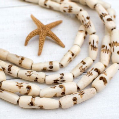 Bone Skull Beads, 1 Inch, 16pc Strand, Skull Beads, Bone Skull, Hand Carved Bone beads -BN19