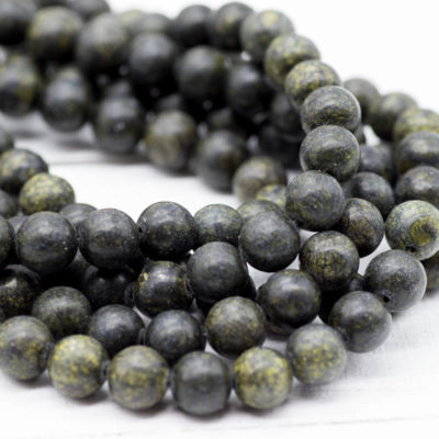 Green Lace  Gemstone Beads, 8mm, 15 Inch Strand, 48pcs,  Round Gemstone Beads -P964