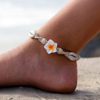 hemp flower anklet, beach anklets