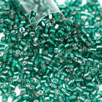 Glass   Seed Beads,   1 Tube, Czech Seed Beads, Dark Green, 2x2mm -B2188