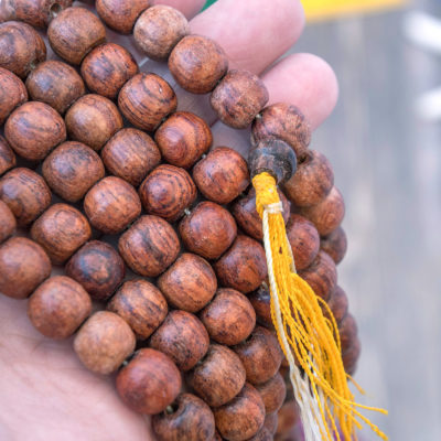 Rosewood Beads, 10x11mm Wood Beads, 108 Mala, Burmese Wood Beads, 44 Inch Strand -B2148