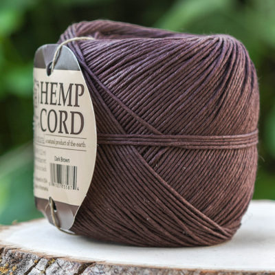Brown  Macrame Cord,  400 Feet,  Hemp Cord,  Dyed  Hemp Twine, Brown Twine -T94