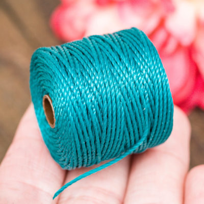 Dark Teal S lon Bead Cord, Nylon Cord, .9mm, 35 Yard Spool, Necklace Cord,   Tex 400 -MC9