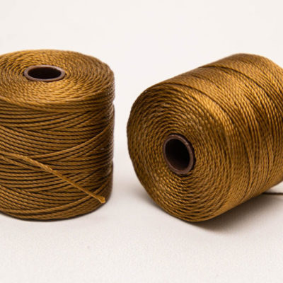 Gold  S Lon   Cord,    3ply,  .5mm, 77 Yard Spool, Macrame Cord    - SL32