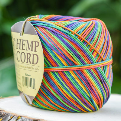 Hemp Twine, 1mm  Macrame Cord, Rainbow Hemp, Jewelry Cord,   400 Feet   -T93