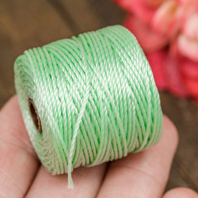 Mint Green   Bead Cord, Nylon Cord, .9mm, 35 Yard Spool, Necklace Cord,   Tex 400 -MC1