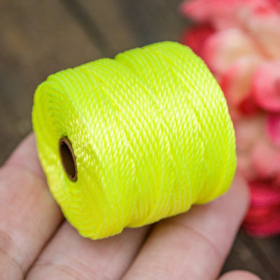 Neon Yellow Bead Cord,  .9mm, 35 Yard Spool, Necklace Cord,  Slon Tex 400 -MC7