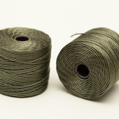 Olive S-Lon Bead  Cord, 3ply Nylon  .5mm, 77 Yard Spool,  - SL15