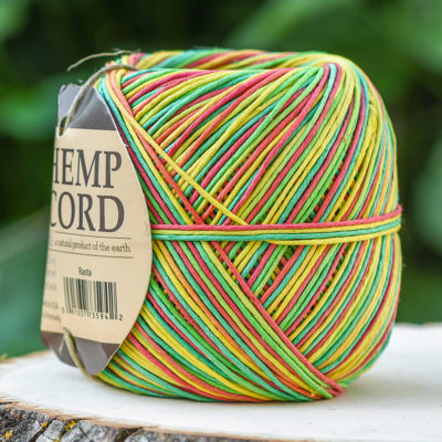 Rasta Hemp Cord,  400 Feet, Twine Ball, Hemp Cord  1mm, 20lb,    Rasta  Bead Cord -T91