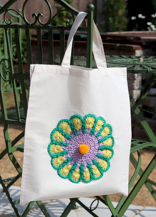 hemp cotton yarn mandala bag