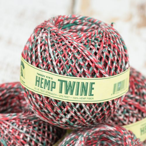 red white green hemp twine from Hungary