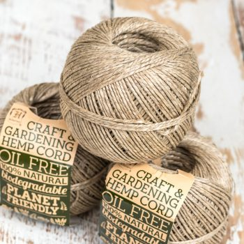 hemp twine 2.5mm, biodegradable craft and gardening cord