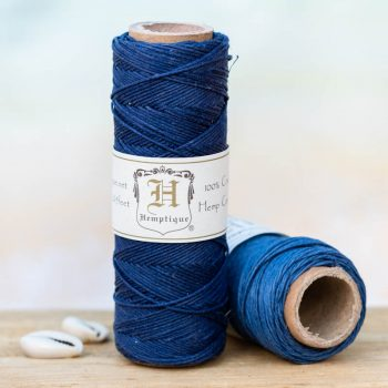 White hempcord, o.5mm, 205 feet spool, thin hemp cord can be used for small hole beads, crafts - card making, scrapbooking,  and making micro macrame hemp jewelry.