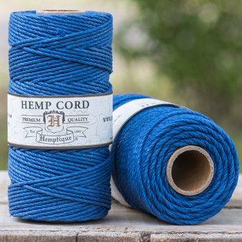 blue hemp cord 2mm