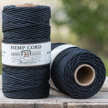 black hemp cord 2mm