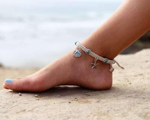hemp anklet,beach anklet,handmade hemp anklet,anklets
