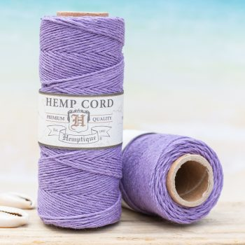 lavender macrame cord 1mm, earth friendly product