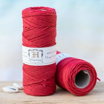 red hemp cord 1mm