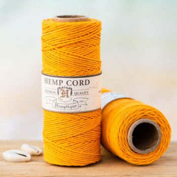 gold hemp cord 1mm, hemptique cord