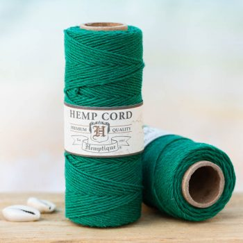green hemp twine 1mm, hemptique hemp twine