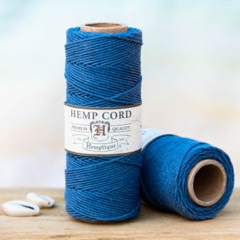 vintage blue hemp cord 1mm