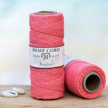 coral hemp cord 1mm
