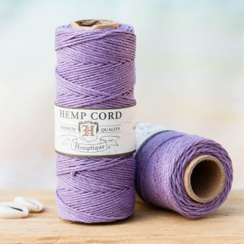 lavender  hemp  cord,  1mm, 205 feet spool for  making macrame hemp jewelry, scrapbooking and crafts.