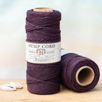 plum hemp string 1mm