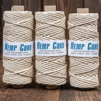 thick natural hemp cord, rope 3mm