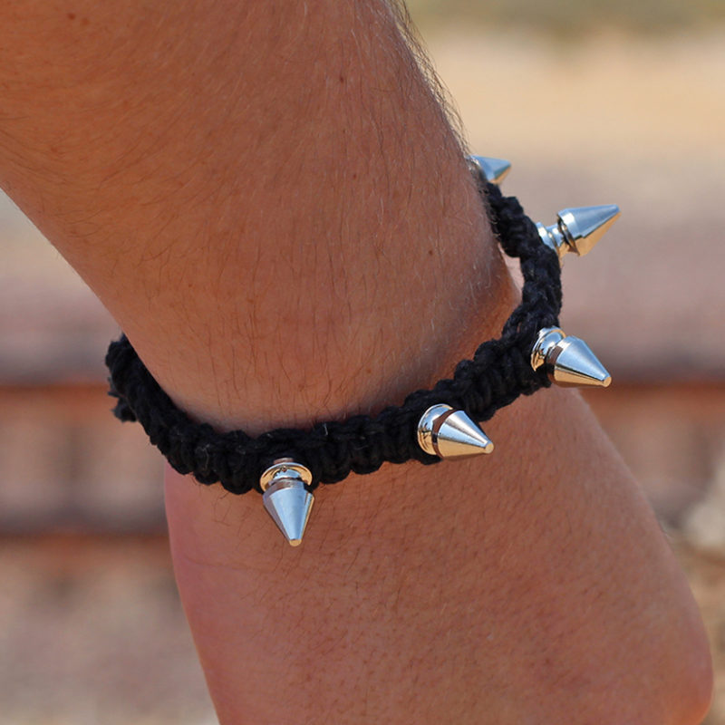 hemp spike bracelets