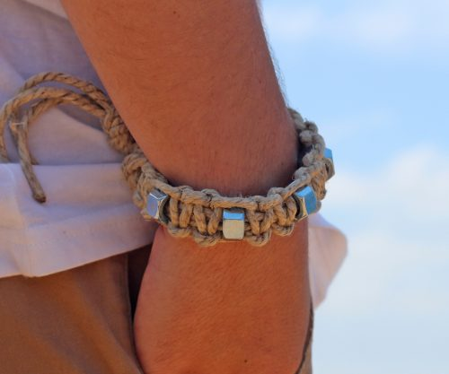 mens hemp bracelet