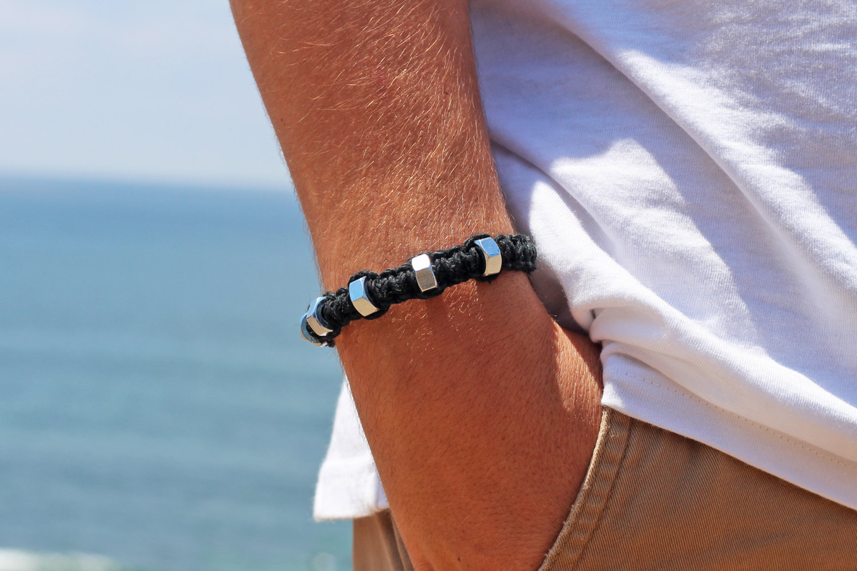 Black Hemp Bracelet Made To Order Hemp Beadery
