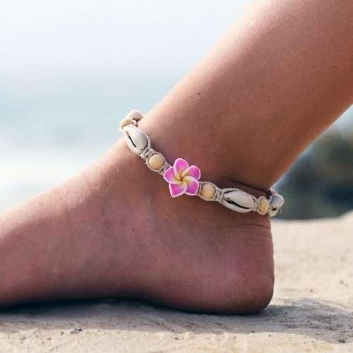 hemp flower anklet