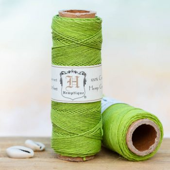 lime green hemp  cord,  1mm, 205 feet spool for  making macrame hemp jewelry, scrapbooking and crafts.