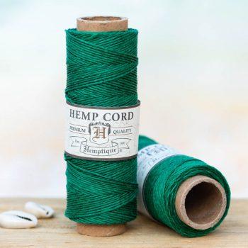 Dark Green Hemp Bead Cord