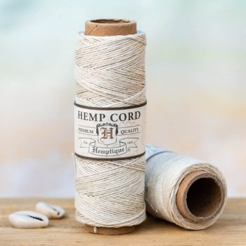 Natural hemp cord,  o.5mm, 205 feet spool, thin hemp cord can be used for small hole beads, crafts - card making, scrapbooking,   and making micro macrame hemp jewelry.