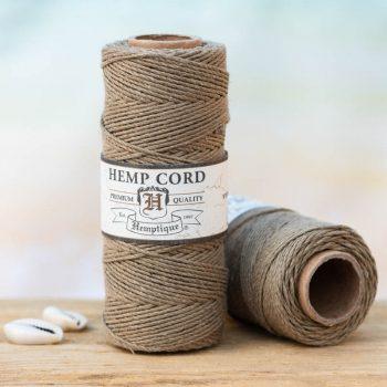 olive hemp cord 1mm