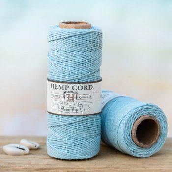 light blue hemp cord 1mm