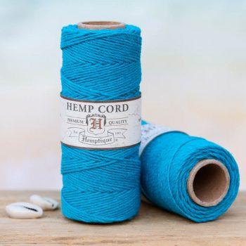 turquoise hemp jewelry cord 1mm