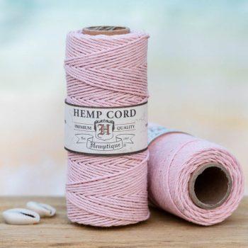 powder pink hemp cord 1mm