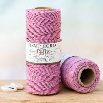 light pink hemp cord