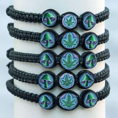 pot leaf mushroom bracelet