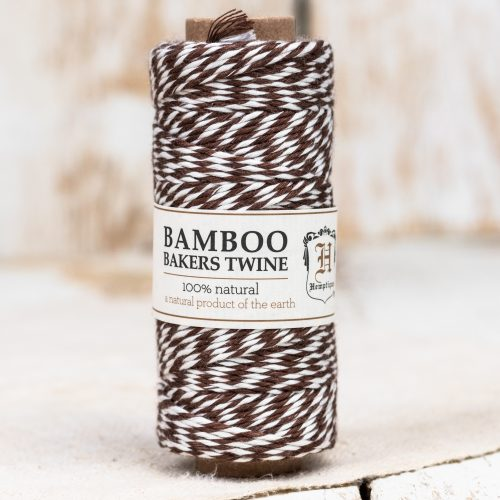 bamboo bakers twine, brown white craft cord