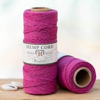 dark pink hemp cord