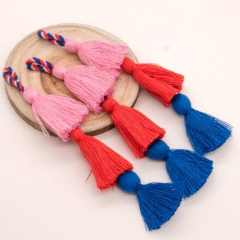 Cotton Tassels, Triple Layer, 3pcs+,  41/2 inch,   Purse Tassels, Handcrafted Tassels -TA21