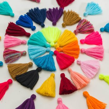 cotton jewelry tassels